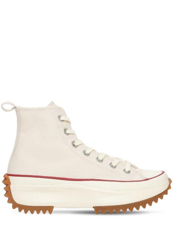 厚底帆布鞋