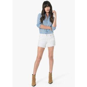 Joe's Jeans白色牛仔短裤