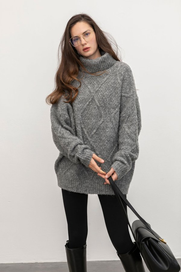 Sabrina Grey Diamond 毛衣