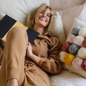 无门槛4折+免邮 满满设计感独家:Revive Cashmere 全场高端轻柔羊绒女装特价热卖