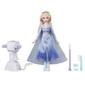 Hasbro艾莎公主娃娃+头发编织工具玩具套装