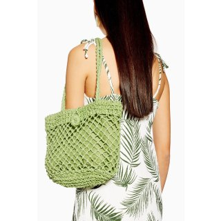 现价£10+直邮中国Topshop 流行趋势编织包包 超火牛油果绿色
