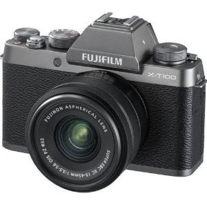 $703 (原价$879)深银灰色,回国可退税Fujifilm X-T100相机 + 15-45mm PZ OIS镜头