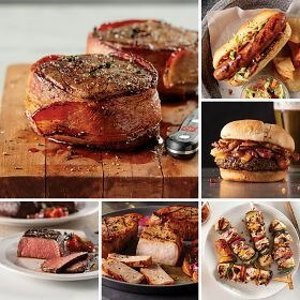 Omaha Steaks免运费培根包菲力牛排、牛腩汉堡、无骨猪排、牛腩等6种餐点套餐