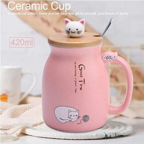 樱花猫爪杯4折 仅€7.4Amazon 马克杯热卖 收超萌猫咪杯、狗爪杯、小熊杯等 可配情侣