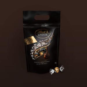 1kg折后仅€14.99 原价€24.9Lindt 瑞士莲 黑巧克力软心球 70%可可含量