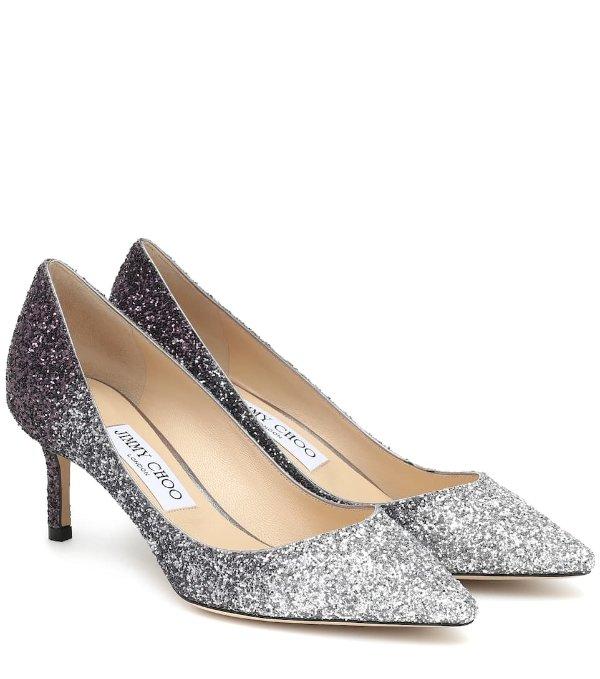 Romy60 银色高跟鞋