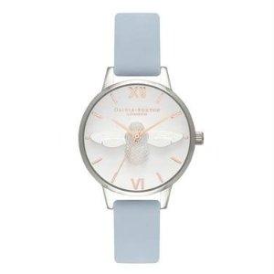 Olivia Burton3D小蜜蜂蓝白手表