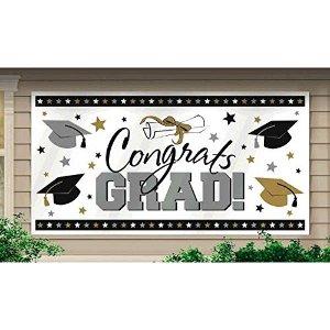 恭喜毕业 户外悬挂海报