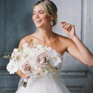婚纱低至1折+伴娘裙额外6折David's Bridal 礼裙、婚纱大促 礼裙$20收