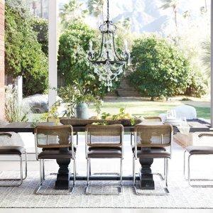 Arhaus 高端奢华餐厅家具及装饰品热卖