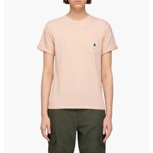 Carhartt裸粉色短袖T恤