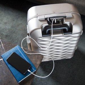 20寸登机箱带USB端口仅$199新秀丽 Fortifi 高颜值商务行李箱限时促销