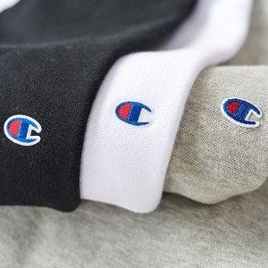 部分低至7折Champion 经典LogoT恤、卫衣、运动裤等促销