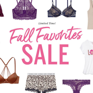 Limited Time Only!The Fall Favorites Sale @Victoria's Secret