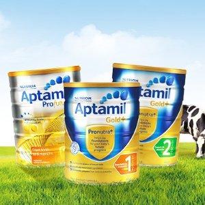 满AU$109减AU$16澳洲 Aptamil 金装爱他美 婴幼儿奶粉 1、2、3段热卖中