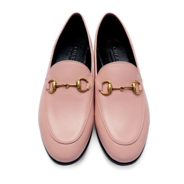 粉色乐福鞋