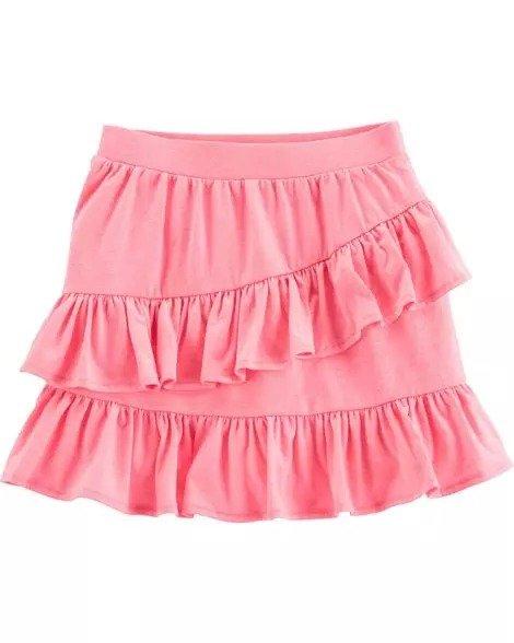 女孩荷叶边裙裤