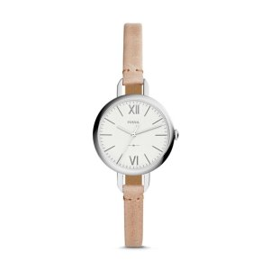 FossilAnnette Three-Hand Sand Leather Watch
