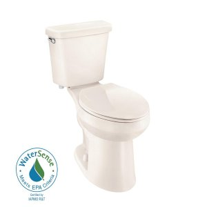 Glacier Bay 2-piece 1.0 GPF Single Flush Elongated Toilet in Bone