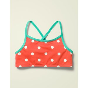 BodenPatterned Bikini Top - Sunset Red/Ivory Spot | Boden US