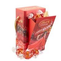 Lindt LINDOR 牛奶巧克力红领巾礼盒12颗