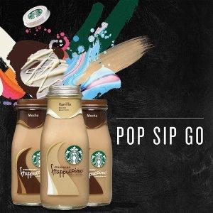 低至$13.99 每瓶仅$0.93Starbucks 玻璃瓶装星冰乐咖啡饮料15瓶 价格超划算