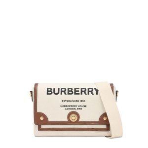 BurberryMD NOTE CANVAS & LEATHER BAG