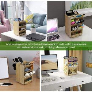 $33.99(原价$49.99)DF DARFOO 超大竹制办公桌收纳架 可放入1000+铅笔