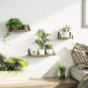 Love-KANKEI Floating Shelves Wall Mounted Set of 3