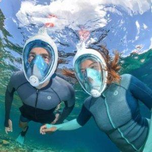 decathlon 迪卡侬 浮潜面罩全干式呼吸管器潜水镜 会呼吸的氧气面罩