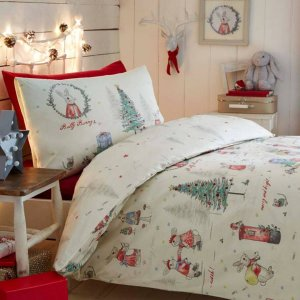 低至43折 萌萌北极熊、小企鹅、圣诞老人都有Brandalley 圣诞风床上用品折扣热卖
