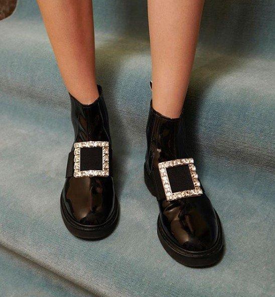 钻扣切尔西靴