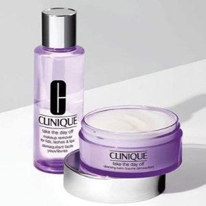 低至5折+满额送8件套最后一天:Clinique 夏季护肤彩妆 入手倩碧黄油、3部曲套装