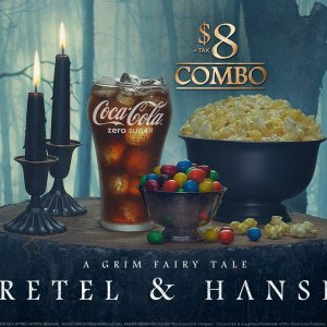 $8 popcorn+drink+candyBuy tickets now to see GRETEL & HANSEL