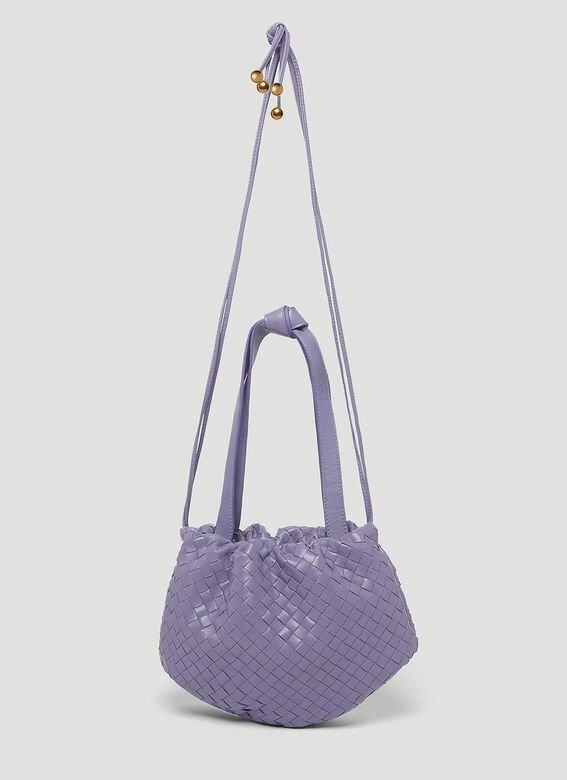 Bulb 香芋紫编织斜挎包