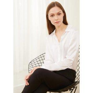 LILYSILKBOGO 40% offBasic Concealed Placket Silk Shirt
