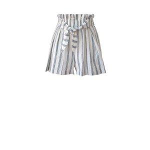 BCBGenerationStriped Paperbag Waist Shorts