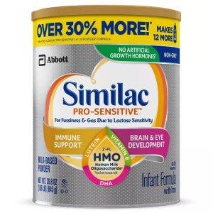 Similac买2送$10礼卡敏感型婴儿奶粉