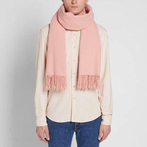 Acne Studios长款羊毛围巾 烟粉色