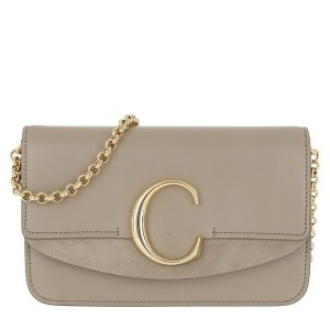 ChloeC Clutch With Cahin Motty Grey