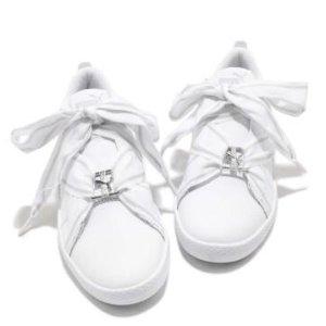 低至6折+额外6折PUMA 女款潮鞋折上折 丝绸小白鞋$26.99