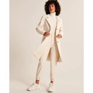 Abercrombie & FitchWomen's Wool-Blend Dad Coat | Women's Clearance | Abercrombie.com