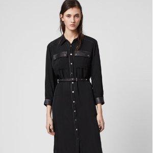 注册8.5折!£100收经典小黑裙上新:AllSaints 春季新品美裙专区 搭配靴子正合适 酷酷女孩也温柔