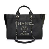 Chanel Deauville Logo托特包