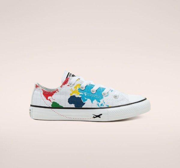 印花帆布鞋