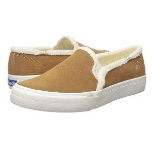 Keds 女士双层绒面一脚蹬休闲鞋 5码