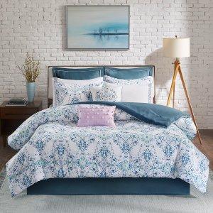 Vero 10 Piece Cotton Printed Comforter Set by Madison Park