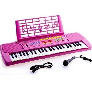 $31.97 (原价$107.21)Ellegance KB49PK 粉色儿童电子钢琴49键