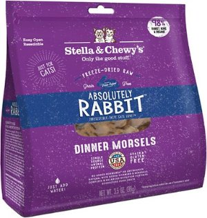 Stella & Chewy's Absolutely Rabbit Dinner Morsels Freeze-Dried Raw Cat Food, 3.5-oz bag - Chewy.com